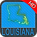 Louisiana nautical chart HD: marine & lake gps waypoint, route and track for boating cruising fishing yachting sailing diving